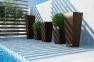 Ваза садовая Scatola Modern из искусственного ротанга 41х41х100 см 1