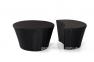 Набор мебели Orbita: диван с навесом, столик и пуф из искусственного ротанга 3