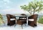 Кресло Dolce Vita из искусственного ротанга, коричневый Modern 0