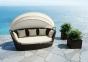 Диван Portofino Modern из техноротанга с балдахином, коричневый 2