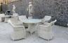 Садовое кресло Матиник из искусственного ротанга, белое 2