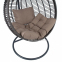 Подвесное кресло Globe из искусственного ротанга, коричневый 3