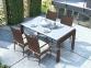 Обеденный комплект Prato & Tramonto Royal из искусственного ротанга: стол 160 см и 4 стула 3