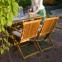Столовый комплект садовой мебели Finlay из акации: стол и 4 стула с подлокотниками 1