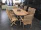 Раскладной садовый стол Butterfly из тика, 160/240 см 1