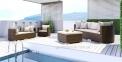 Центральный модуль дивана Venezia Modern из искусственного ротанга 0