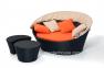 Набор мебели Orbita: диван с навесом, столик и пуф из искусственного ротанга 5