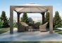 Садовый навес Canopy Royal из искусственного ротанга (белый, коричневый, серый, бежевый) 1