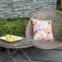 Двухместный набор складной мебели Turku из искусственного ротанга, серо-бежевый 1