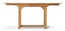 Обеденный овальный стол Bormio из тика, раскладной 0