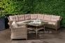 Угловой диван Бильбао с кофейным столиком из искусственного ротанга, капучино 0