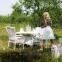 Обеденный комплект Wiker: стол и 4 стула из искусственного ротанга, белый 4