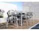 Обеденный комплект мебели из алюминия: стол Oviedo Ø 160 см и 6 стульев Alicante 0