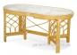 Обеденный овальный стол из натурального ротанга на 6 персон 0