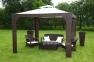 Двухместный диван Firenze из искусственного ротанга, коричневый 1