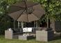 Круглый садовый зонт SolarFlex T2 Ø 3,5 м с основанием Modena (белый, коричневый, антрацит) 0
