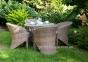Столовый комплект садовой мебели Filip & Dolce Vita Royal из искусственного ротанга 1