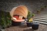 Набор мебели Orbita: диван с навесом, столик и пуф из искусственного ротанга 0