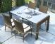 Обеденный комплект Prato & Tramonto Royal из искусственного ротанга: стол 160 см и 4 стула 2