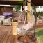 Кресло плетенное подвесное Pangolin из техноротанга, серо-бежевый 2