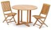 Обеденный стол Andria из тика Ø 110 см, круглый 2