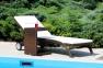 Приставной столик Romeo из искусственного ротанга, коричневый 0