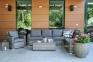 Садовый диван Geneva из искусственного ротанга, правый модуль 0
