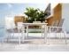 Обеденный комплект мебели: стол Toledo и 6 стульев Alicante из алюминия  2