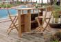 Барный стул Havana из тикового дерева 1