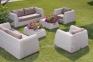 Комплект для отдыха Удин: диван, 2 кресла и кофейный столик  из искусственного ротанга, белый 2