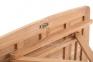 Стол квадратный Rimini из тика, раскладной 80х80 см 3