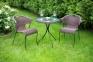 Столик со стеклом Billy 64хh72 см, коричневый 0