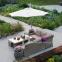 Консольный круглый зонт Roma 3 м, бежевый 2