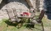 Садовый стул с подлокотниками Montreal из алюминия и текстилена, штабелируемый 0