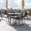 Столовый комплект садовой мебели Vigo: стол со стеклянной столешницей и 4 стула, серый 4