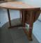 Обеденный круглый стол Boni из тика  Ø 120 см, складной 2