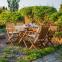 Столовый комплект садовой мебели Finlay из акации: стол и 4 стула с подлокотниками 0