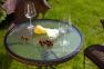 Столик со стеклом Billy 64хh72 см, коричневый 2