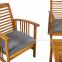 Комплект садовой мебели Finlay из массива акации с подушками 0