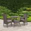 Столовый комплект Paloma из искусственного ротанга, коричнево-серый 0