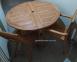 Обеденный круглый стол Boni из тика  Ø 120 см, складной 0