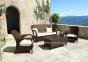 Двухместный диван Firenze из искусственного ротанга, коричневый 0