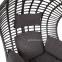 Подвесное кресло Bora из искусственного ротанга, коричневый 3