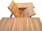 Стол обеденный раскладной Deli из тика 120/180*120 см 0