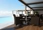 Стол Quadro Royal из искусственного ротанга со стеклом 60х60 см 0