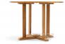 Обеденный стол Andria из тика Ø 110 см, круглый 1