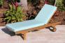 Лежак тиковый Domingo с колесиками 1