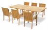 Стол обеденный раскладной Deli из тика 120/180*120 см 2