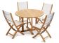 Обеденный стол Andria из тика Ø 110 см, круглый 3