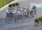 Садовый стул Lugo Stone & Wood c элементами из тика 0